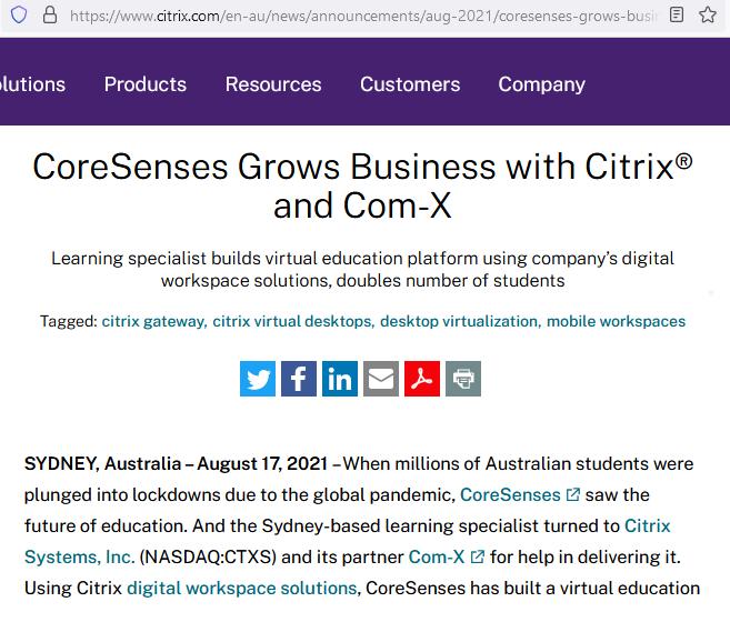 Citrix Consulting Partner Sydney   Com-X